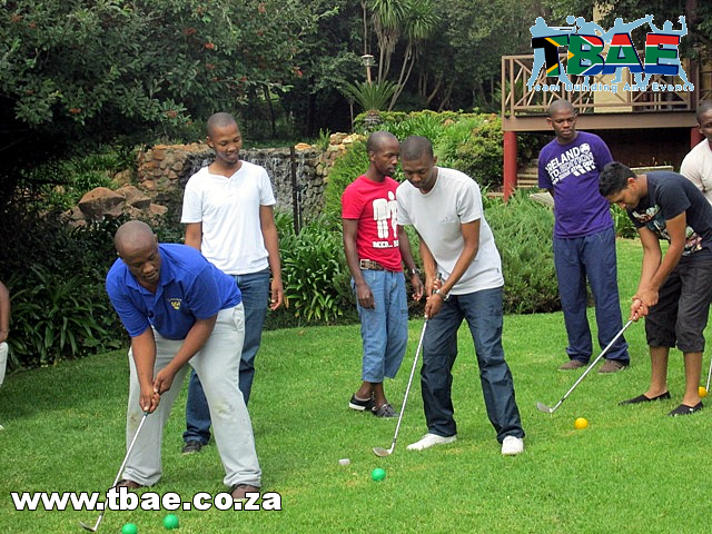Team building event with Wild Golf