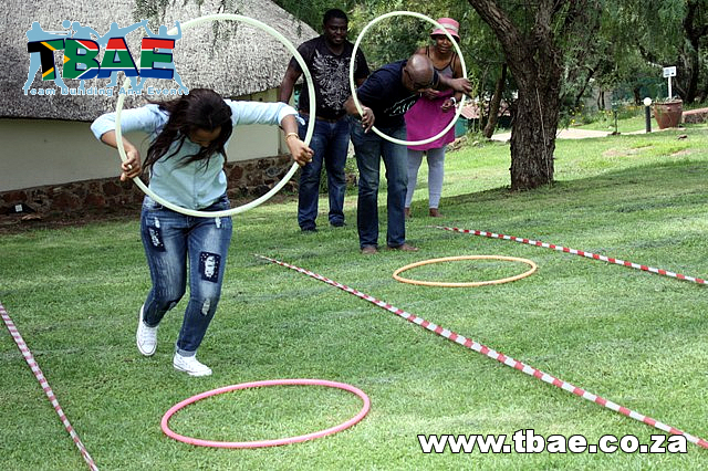 Hula Hoop Race Team Building Exercise