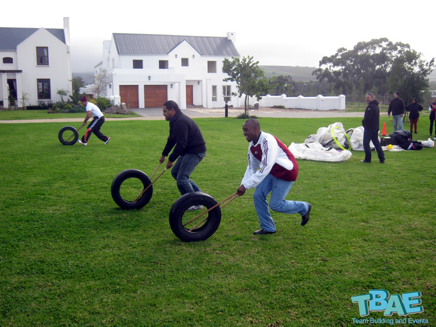 Tyre Race Team Buidling Exercise