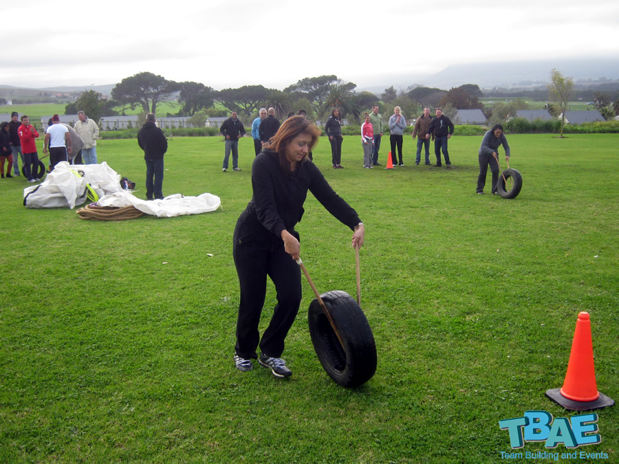 Team building event Tyre Race