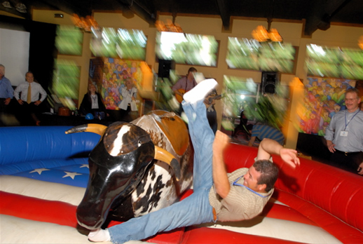 mechanical bull team building event